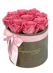 Picture of Grey Box Forever Roses Pink