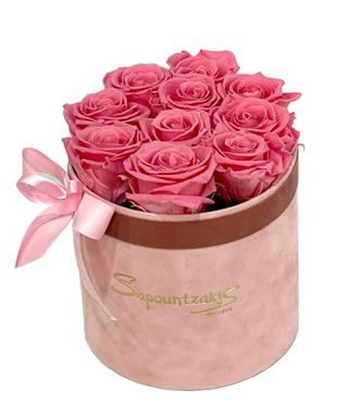 Ροζ Κουτί Forever Roses Ροζ