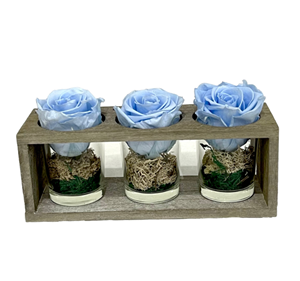 Picture of Wooden Base 3 Forever Light Blue