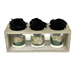 Picture of Wooden Base 3 Forever Black