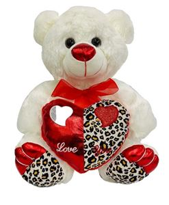Picture of Teddy Bear with leopar Heart